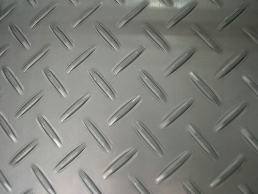 AISI / ASTM Stainless Steel Chequered Plate Steel Checkered Plate For Bridges