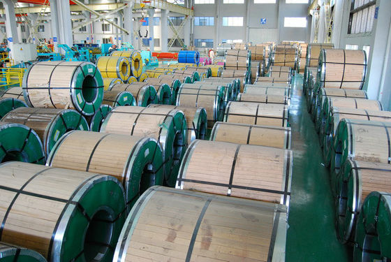 China Prime Hot Rolled Steel Coils AISI / JIS 301 / 304 / 304L / 316L, No.1, 2B, No.4, HL Finish With Custom Length distributor